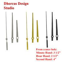 "(#08) Quartz Clock movement kit 1/4"",1/2"",3/4"",1"" thread motor & 3.5"" hand"