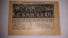 Riverside Junior College & Sacramento Junior College 1928 Football Team Picture