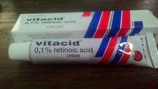 2tube VITACID 0.1% CREAM 20gr For Exterminator ACNE for Sensitive,Normal Skin