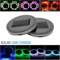 2PCS COPPA Solare RGB HOLDER PAD inferiore coperchio TRIM lampada per tutte auto