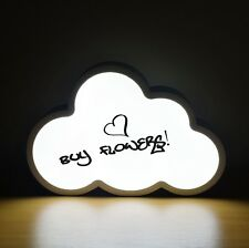 Cloud Shape LED Light Up Box Write Your Own Message Sign Display Party Wedding