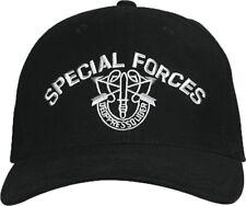 Black Special Forces Deoppresso Liber Embroidered Logo Adjustable Baseball Hat