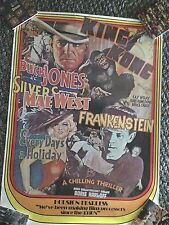 King Kong Buck Jones Frankenstein Mae West Huston Fearless Proccessors Ad Poster