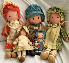 Knickerbocker Vintage Holly Hobbie Rag Cloth Doll Lot Amy Carrie Heather 6-15""