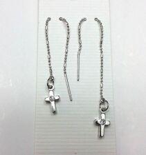 Cross Style Dangle Threader earrings #1
