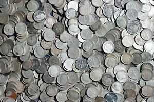 """ONE ROLL OF ROOSEVELT DIMES (50 COINS) 90% SILVER """"WORN/DAMAGED"""" LOT B79"""
