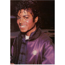 Michael Jackson Head Shot Wearing Jacket and Big Smile 8 x 10 Inch Photo