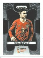 2018 Panini Prizm World Cup Soccer Gerard Pique (Spain) Base