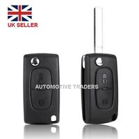 2 Button Flip Key Fob Case Shell Blade For PEUGEOT 207 307 308 & 407 + LOGO A28