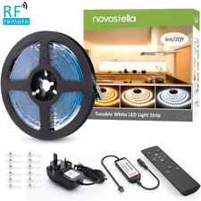 Novostella LED Strip Lights Tunable White with Remote Control, Dimmable Strip 6M
