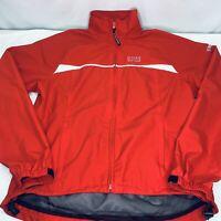 Gore Bike Wear Wind stopper Soft Shell Full Zip Jacket Size L Men's Red