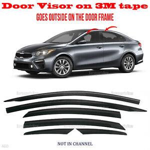 2S Tape Smoke Door Window Vent Visor Deflector ⭐6pcs⭐ fits Kia Forte 2019-2021