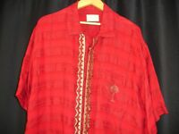Jordan Two3 Nike Micheal Jordan Jumpman Button Shirt L Embroidered Red