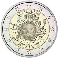 Luxemburg 2 Euro 10 Jahre Euro Bargeld 2012 Gedenkmünze bankfrisch