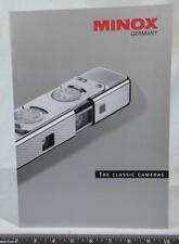 Minox Classic Camera Brochure / Catalog Guide 2001 g25
