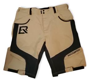 ROCK BROS Men's Mountain Bike/Cycling Padded Shorts Loose Fit 2XL