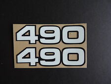 1982-1983  Yamaha YZ 490 Side Panel Decals AHRMA