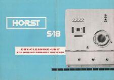 Reklame Horst Industrie-Waschmaschinen-Trockner-Einheit S18 Englisch