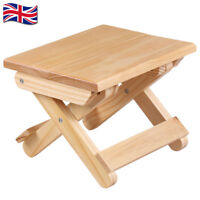 Pine Solid Wood Folding Stools Portable Bench Home Garden Kitchen Camping Stool