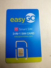 EasyGo Easy Go 4G Lte Triple-Cut 3-in-1 Prepaid Sim Card Power By H2O On At&T
