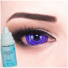 Coloured Sclera contact lenses black Violet Rinnegan 22mm for Halloween Carnival