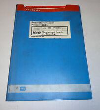Werkstatthandbuch VW Passat B3 35i Mono Motronic Einspritzanlage Zündanlage 1988