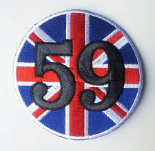 59 CLUB CAFE RACE UK FLAG EMROIDERED IRON ON Cafe Racer PATCH
