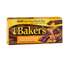 Baker's Unsweetened 100% Cocoa Baking Chocolate Bar 113g 4oz