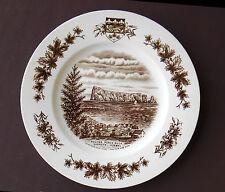 ROCHER PERCE ROCK Souvenir Plate GASPESIE QUEBEC CANADA Wood Sons Staffordshire