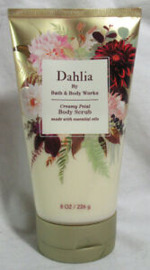 Bath & Body Works Creamy Petal Body Scrub made with essential oils DAHLIA 8 oz