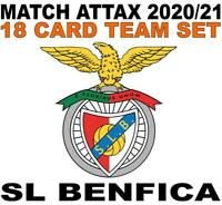 Match Attax Champions League 2020/21 SL BENFICA 18 card team set