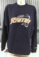 St. Louis Los Angeles Rams NFL Reebok Size Large Sweatshirt