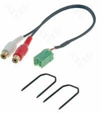 RENAULT Clio Megane 2005 in poi AUX-IN input Adapter LEAD CABLE IPOD MP3 + CHIAVI