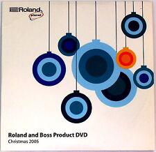 Roland & Boss produit DVD Noël 2005 gr-20 guitare synthé V-Drums BOSS GT-8