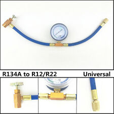 R134A to R12/R22 Car Air Conditioning Refrigerant Charging Hose Pipe With Gauge