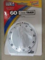 Lux Mechanical Timer 60 Minute White #CP2428-59  NEW in package