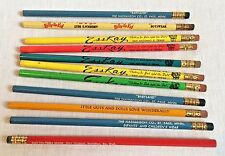 11 Vintage Wooden Advertising Pencils Clothing Company Stores Esskay Wonderalls