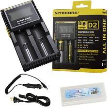 Original Nitecore Intellicharger D2 LCD Battery Charger EU plug ,  18650 AA AAA