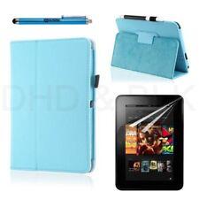 Carcasas, cubiertas y fundas azul piel sintética para tablets e eBooks Amazon