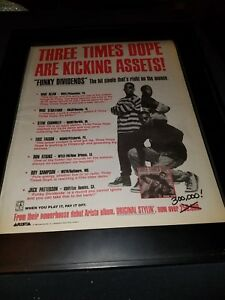 Three Times Dope Funky Dividends Rare Original Radio Promo Poster Ad Framed!