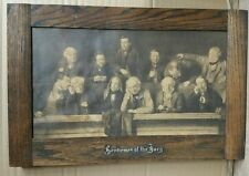 John Morgan Gentlemen of the Jury sepia print very old original in frame rare