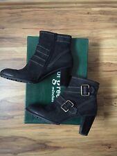 PAUL GREEN Stiefelette Größe: 38 1/2 (5 1/2) Farbe: schwarz Nubukleder