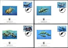 CAYMAN ISLANDS - 2003 WWF 'SHORT FINNED PILOT WHALE' 1st Day Cover x 4 [B1316]