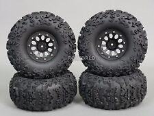 "Traxxas TRX-4 Rock CRAWLER  Beadlock Wheels & TIres 140mm 5.5""  -Set Of 4- BLACK"