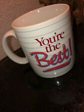 """You'Re The Best """"Wife' Coffee Mug Cup Applause 1985 Made in Japan #3116"""