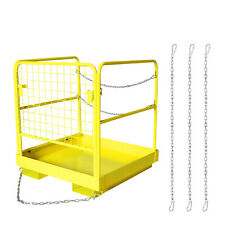 36x36 Forklift Work Platform Safety Cage Heavy Duty Durable 1100lbs Capacity
