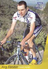 CYCLISME carte cycliste JORG FORSTER équipe NURNBERGER