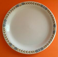 "Shenango Rim Rol Wel Roc Gold Wheat Geometric Black Key Restaurant Ware Plate 7"""
