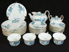 Rare Wedgwood Blue Chinese Tiger Tea Set 32 Pieces