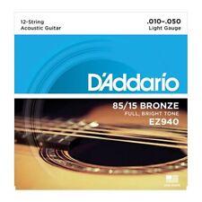 D'Addario EZ940 Set 12 Corde (010-050) per Chitarra Acustica